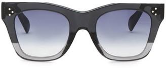 Celine Havana Rectangular Cat Eye Sunglasses