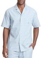 Nautica Check Printed Cotton Pajama Shirt