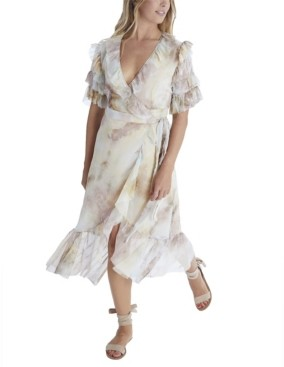 Allison New York Women's Tie Dye Wrap Dress