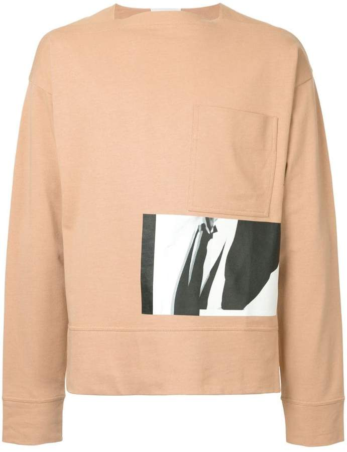Cerruti photo-print sweatshirt