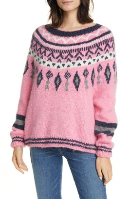 Line Helga Fair Isle Jacquard Wool Blend Sweater