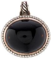 David Yurman Signature Diamond & Onyx Pendant