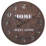 Infinity Instruments Home Metal Clock - Brown
