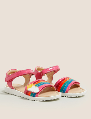 Marks and Spencer Kids' Riptape Rainbow Sandals (5 Small - 12 Small)