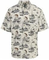 Woolrich Men's Walnut Run Printed Modern Fit Shirt