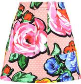 Love Moschino Printed Cotton-Blend Mini Skirt