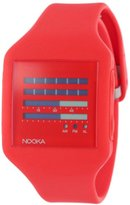 Nooka Unisex ZUB-ZENH-FR-20 Zub ZenH Fire Engine Red Polyurethane Watch