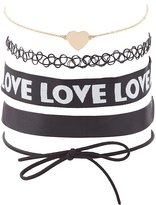 Charlotte Russe Love Choker Necklaces - 5 Pack