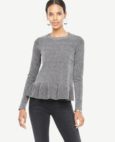 Ann Taylor Petite Ruffle Hem Sweater