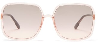 Christian Dior So Stellaire 1 Square Acetate Sunglasses - Womens - Pink Multi
