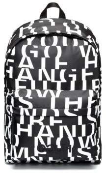HUGO Boss Nylon backpack abstract slogan motif One Size Black
