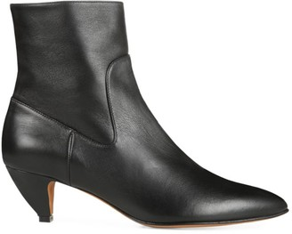 Vince Meta Leather Ankle Boots
