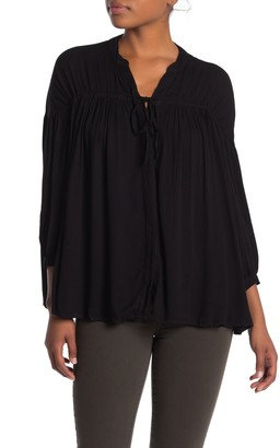 Yfb By Young Fabulous & Broke Tress 3/4 Sleeve Button Front Swing Top