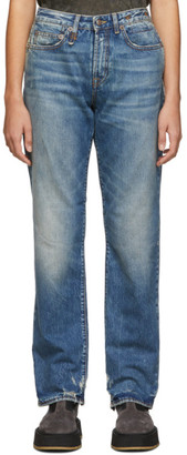 R 13 Indigo Double Pocket Jeans