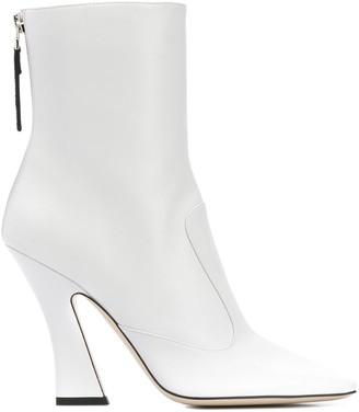 Fendi FFredom square toe ankle boots