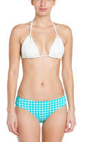 Coco Rave Never Too Much Blue Plaid Knotted Bikini Bottom