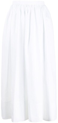 Jil Sander gathered A-line midi skirt