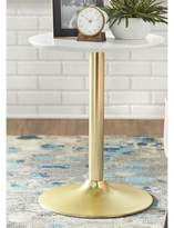 Everly Ringo End Table Quinn Color: White / Gold