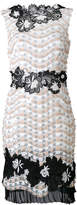 Talbot Runhof embellished floral shift dress