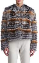 Gorski Fox Fur Cropped Layered Jacket