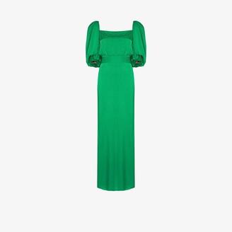 Johanna Ortiz Thread Of Thought Pouf Sleeve Dress