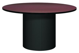 Ironwood Modular Corsica Circular Conference Table Base Finish: Black, Top Finish: Oiled Cherry, Size: 4' L