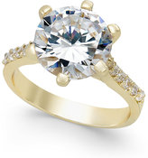 Charter Club Gold-Tone Round Crystal Ring, Only at Macy's