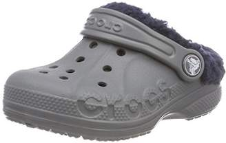 Crocs Unisex Kids' Baya Lined Clogs, Grey (Charcoal/Navy)