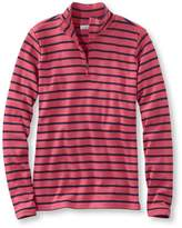 L.L. Bean L.L.Bean Women's French Sailor's Pullover, Long-Sleeve Quarter-Zip