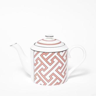 O.W. London Maze Coral/White Teapot