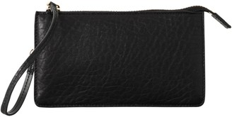 Vash Polaris Flat Wallet Clutch In Black Bubble Leather