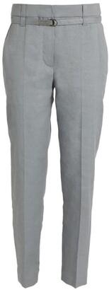 Brunello Cucinelli Linen-Blend Belted Trousers