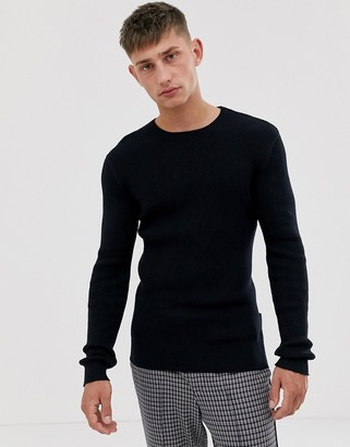 French Connection cable crew neck sweater
