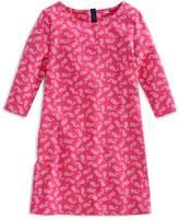 Vineyard Vines Girls' Whale Print Shift Dress - Big Kid