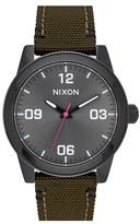 Nixon Men's 'G.i.' Round Dial Nylon Strap Watch, 36Mm