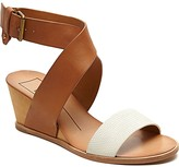 Dolce Vita Lola Leather Wedge Sandals