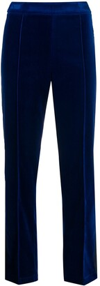Hebe Studio Velvet Cropped Trousers