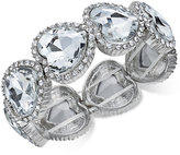 Thalia Sodi Silver-Tone Crystal Heart Stretch Bracelet, Only at Macy's