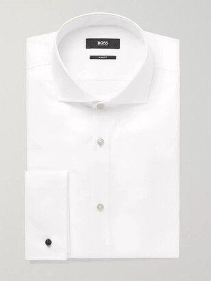 HUGO BOSS White Jaiden Slim-Fit Double-Cuff Cotton-Twill Shirt - Men - White