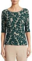 Akris Punto Leaf-Print Knit Pullover