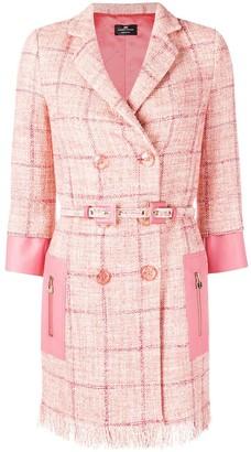 Elisabetta Franchi Check Double-Breasted Jacket