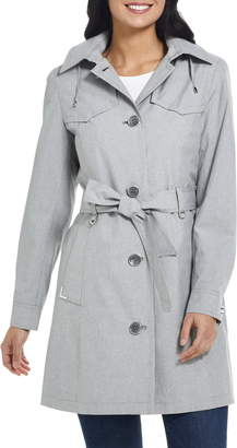 Gallery Belted Trench Coat with Hood