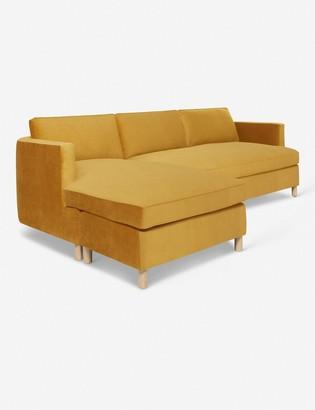 Lulu & Georgia Belmont Velvet Left-Facing Sectional Sofa, Goldenrod By Ginny Macdonald