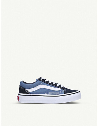 Vans Old Skool canvas and leather trainers 5-7 years