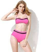 Colloyes Women's High Waist Bikini Retro Swimsuit (M, )