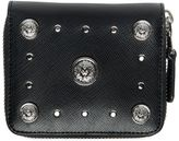 Versus Lion Saffiano Leather Zip Around Wallet