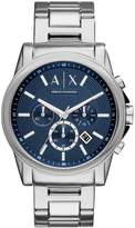 Armani Exchange Unisex Silver Stainless Steel Bracelet Watch