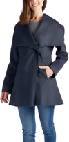 Laundry by Shelli Segal Sea Gray Single-Button Wool-Blend Jacket