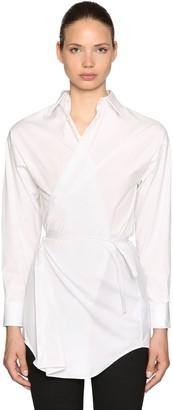 DSQUARED2 Stretch Cotton Poplin Wrap Shirt