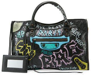 24d4019d3e Balenciaga Classic City AJ Graffiti-Print Satchel Bag
